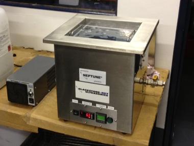 Bench Top in situ ultrasonic cleaning machine