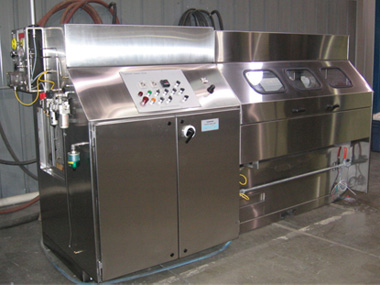 Quadrant coating machine